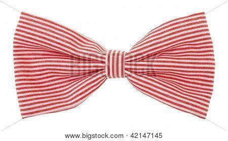 Red white striped bow tie