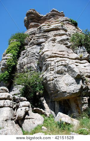 Karst Landscape, El Torcal National Park, Spain.