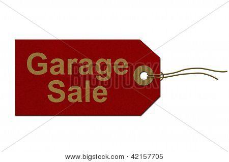 Marca de venda de garagem
