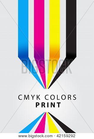 cor de impressão