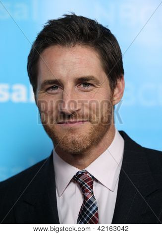 LOS ANGELES - JAN 06:  SAM JAEGER arriving to TCA Winter Press Tour 2012: NBC Party  on January 06, 2012 in Pasadena, CA