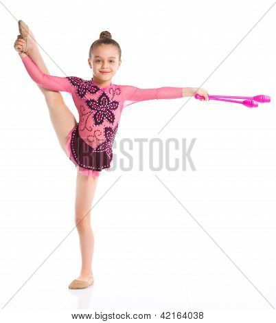 Young professional gymnast