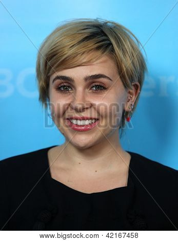 LOS ANGELES - JAN 06:  MAE WHITMAN arriving to TCA Winter Press Tour 2012: NBC Party  on January 06, 2012 in Pasadena, CA