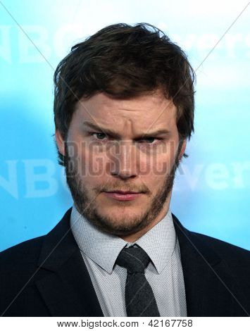 LOS ANGELES - JAN 06:  CHRIS PRATT arriving to TCA Winter Press Tour 2012: NBC Party  on January 06, 2012 in Pasadena, CA