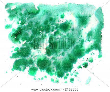 Watercolor Dark Green Background