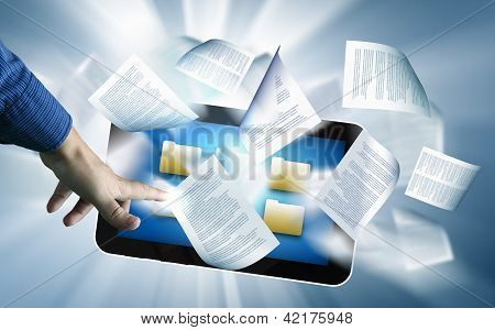 e book reader and books