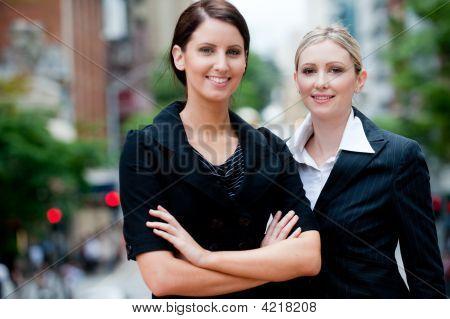 Businesswomen Outside