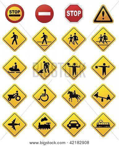 Road Sign Set.Vector