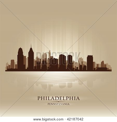 Philadelphia, Pennsylvania Skyline City Silhouette