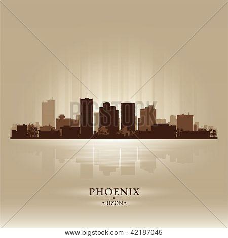 Phoenix, Arizona Skyline City Silhouette