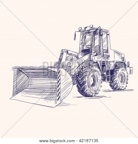 loader bulldozer excavator machine