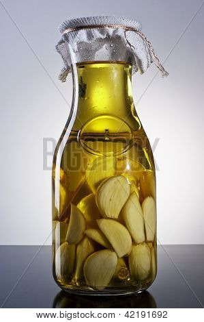 asombrosa ajo infundido casero picante fragante de aceite de oliva