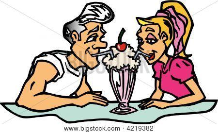 Couple And Milkshake