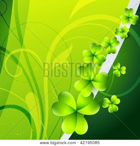 beautiful green shamrock leaf st patrick's day background