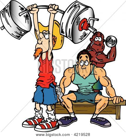 Old Man Lifting Weights