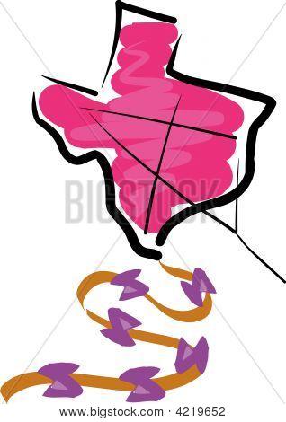 Texas Shaped Kite