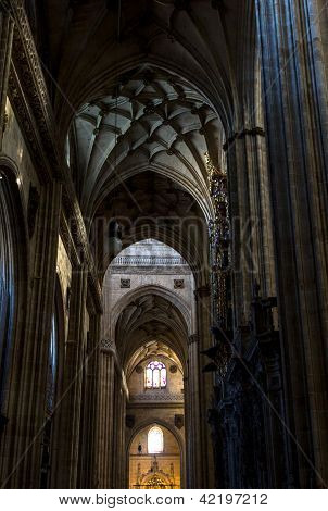 Inside Salamanca Cathedral