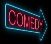 stock photo of comedy  - Illustration depicting a neon signage with a comedy concept - JPG