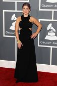 LOS ANGELES - FEB 10:  Kelly Osbourne arrives at the 55th Annual Grammy Awards at the Staples Center