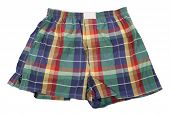 pic of boxer briefs  - Colorful plaid boxer shorts - JPG