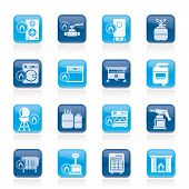 stock photo of stopcock  - Household Gas Appliances icons  - JPG