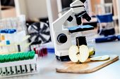 stock photo of pesticide  - Chemical Laboratory of the Food supply  - JPG