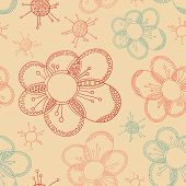 stylized flower seamless texture