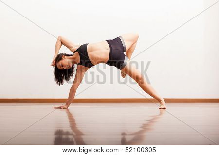 Jazz dancer in a dance academy