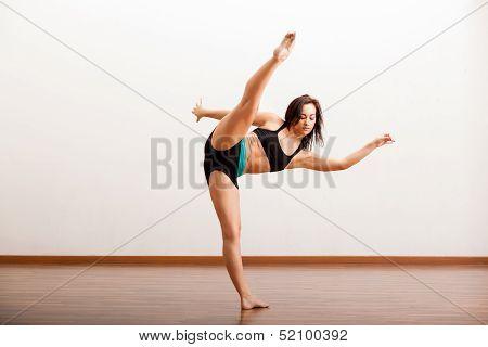 Jazz dancer warming up