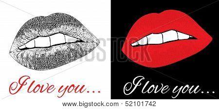 Set Of Love Kiss
