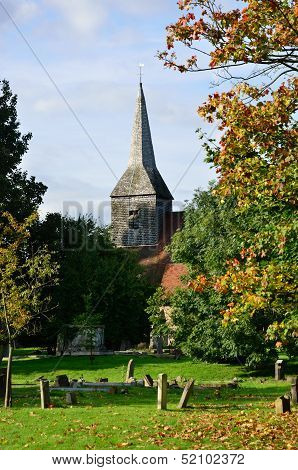 English Churchyard in Portrait aspect