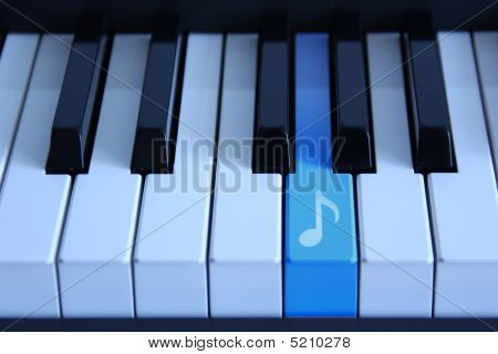 Piano With An Audio Key