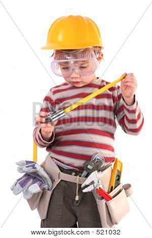 Young Boy Builder