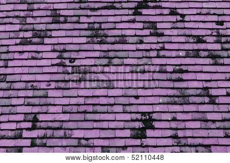 Pink Tiled Roof For Background Usage