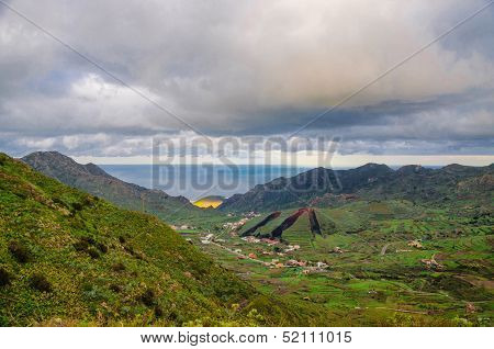 Mountains Near Punto Teno Lighthouse In North-west Coast Of Tenerife, Canarian Islands