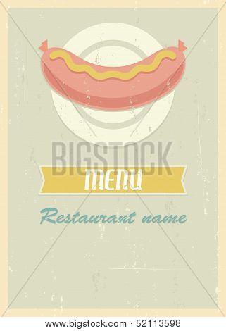 Retro menu cover