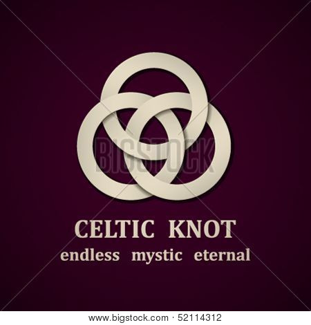 vector paper Celtic knot symbol design template