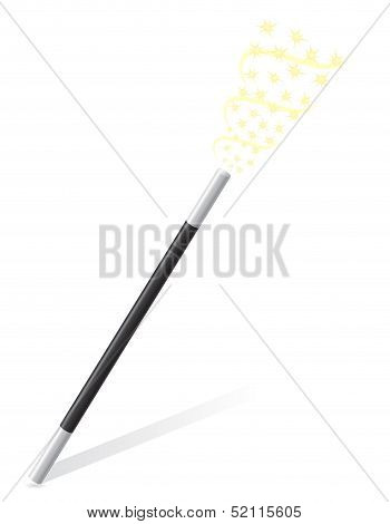 Magic Wand Vector Illustration