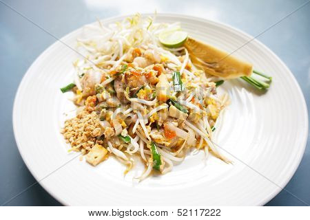 Close Up Padthai In Street