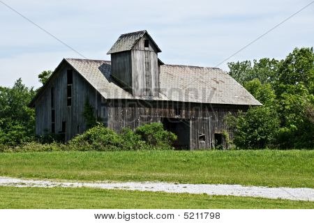 Old Weathered Gray Barn