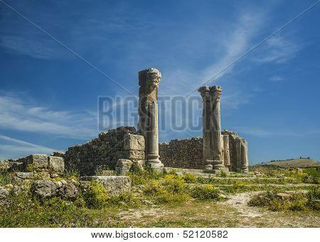 Roman site of Volubilis in Morocco