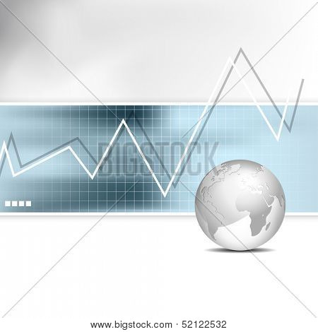 Business chart - bar graph - financial background