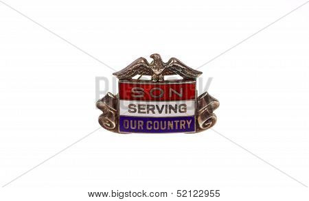 World War Two era son in service pin