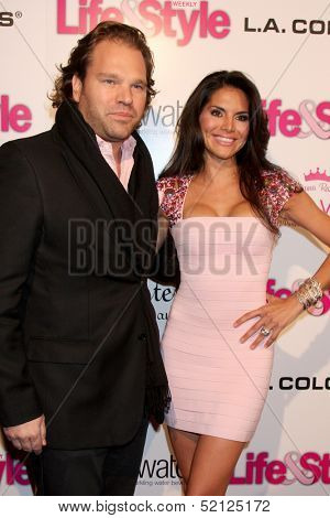 LOS ANGELES - OCT 9:  Michael Ohoven, Joyce Giraud at the Hollywood In Bright Pink at Bagatelle LA on October 9, 2013 in West Hollywood, CA