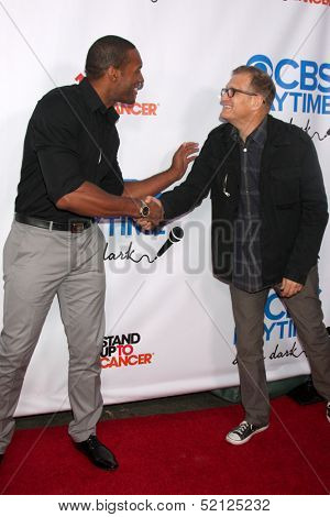 LOS ANGELES - OCT 8:  Lawrence Saint-VIctor, Drew Carey at the CBS Daytime After Dark Event at Comedy Store on October 8, 2013 in West Hollywood, CA