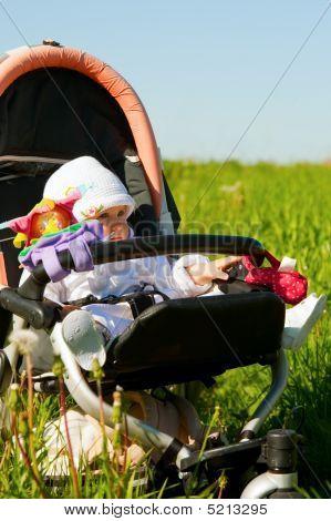 Infant In Stroller