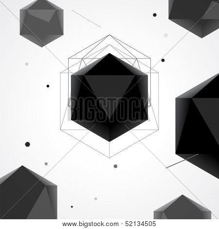 Polygon abstract geometrical background