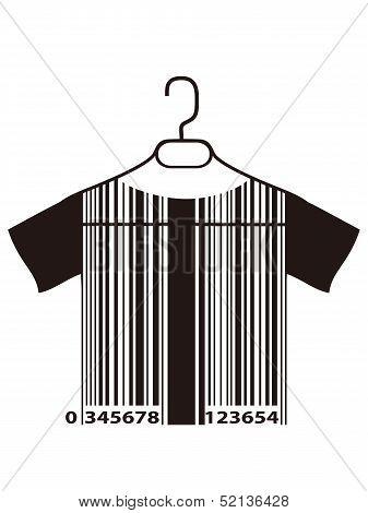 Barcode T-shirt On Cloth Hanger
