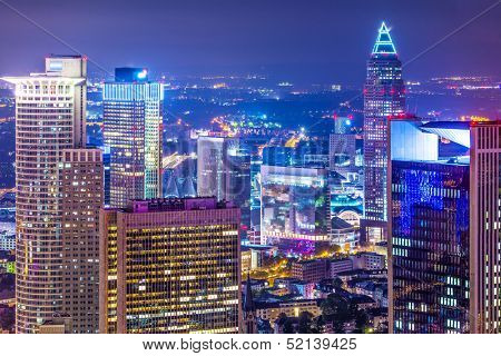 Cityscape of Frankfurt, Germany, the financial center of the country.
