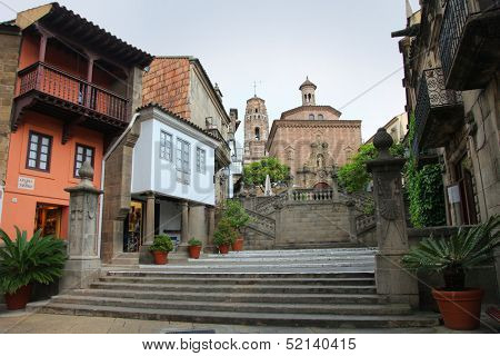 BARCELONA, SPAIN - MAY 11: Poble Espanyol in Barcelona, Spain on May 11, 2013.Traditional architectural complex. It was constructed in 1929, for the Barcelona International Exhibition.